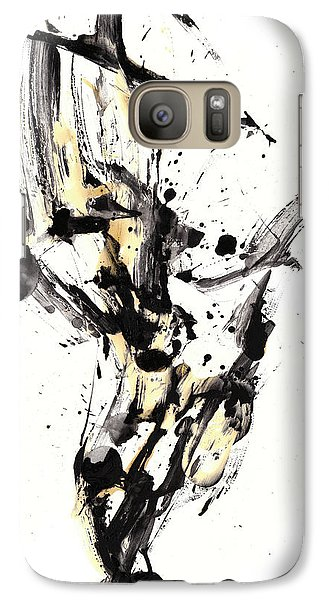 Galaxy Case featuring the painting Black Is White White Is Black by Kris Haas