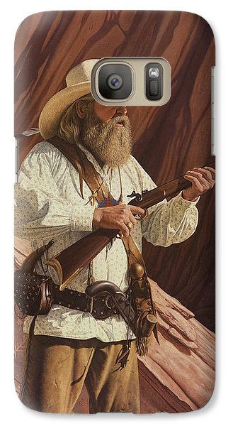 Galaxy Case featuring the painting Black Kettle by Ron Crabb
