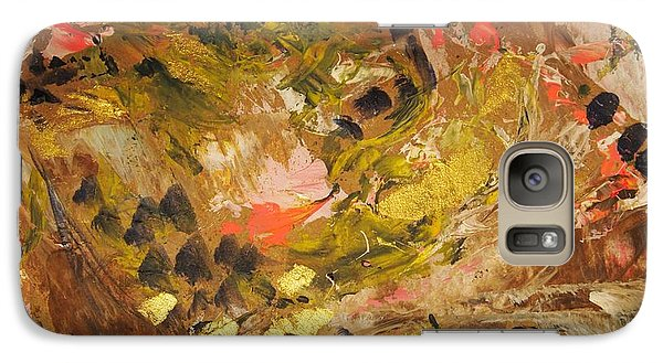 Galaxy Case featuring the painting Black Lily Valley by Nancy Kane Chapman