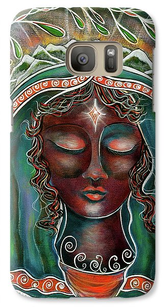 Galaxy Case featuring the painting Black Madonna by Deborha Kerr