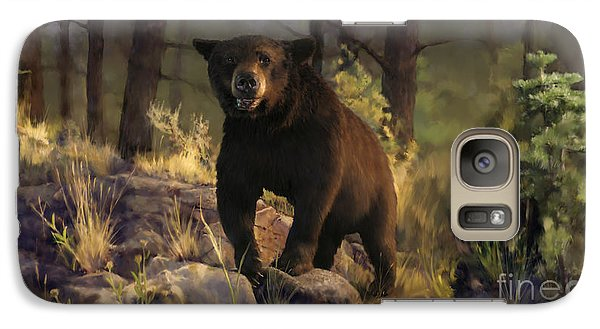 Galaxy Case featuring the painting Black Max by Rob Corsetti