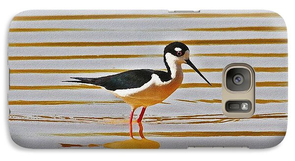 Galaxy Case featuring the photograph Black Neck Stilt Standing by Tom Janca