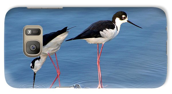 Galaxy Case featuring the photograph Black-necked Stilts by Bob and Jan Shriner