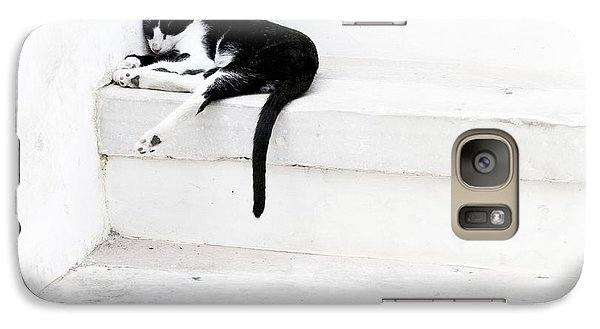 Galaxy Case featuring the photograph Black On White 2 by Lisa Parrish