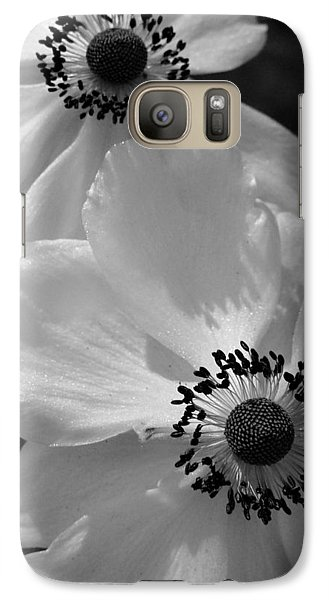 Galaxy Case featuring the photograph Black On White by Cheryl Hoyle