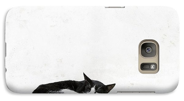 Galaxy Case featuring the photograph Black On White by Lisa Parrish