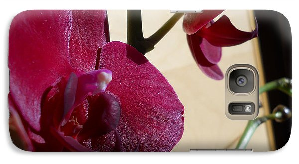 Galaxy Case featuring the photograph Black Orchid by Ramona Matei