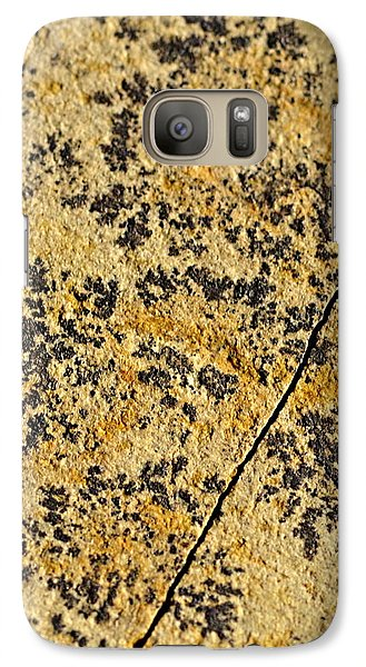 Black Patterns On The Sandstone Galaxy Case by Jozef Jankola