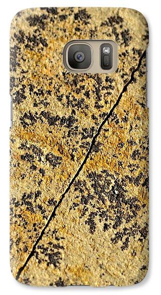 Black Patterns On The Sandstone Galaxy S7 Case by Jozef Jankola