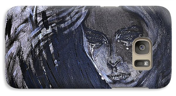 Galaxy Case featuring the painting black portrait 16 Juliette by Sandro Ramani