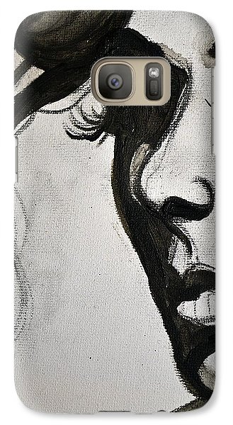 Galaxy Case featuring the painting Black Portrait 16 by Sandro Ramani