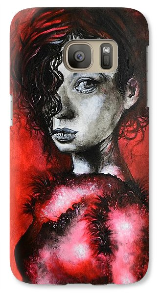 Galaxy Case featuring the painting Black Portrait 23 by Sandro Ramani