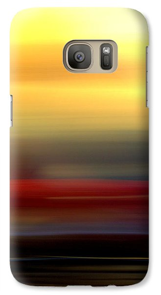 Galaxy Case featuring the mixed media Black Red Yellow by Terence Morrissey