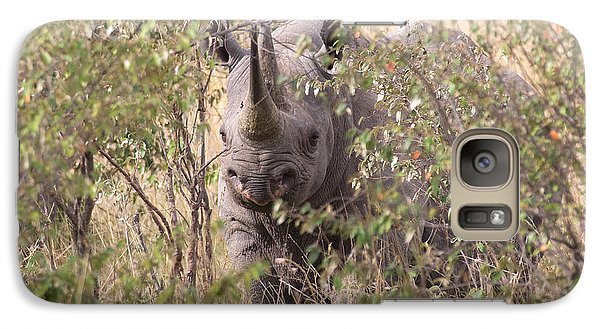 Black Rhino  Galaxy S7 Case by Chris Scroggins