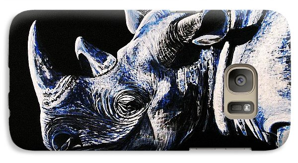 Galaxy Case featuring the painting Black Rino by Viktor Lazarev