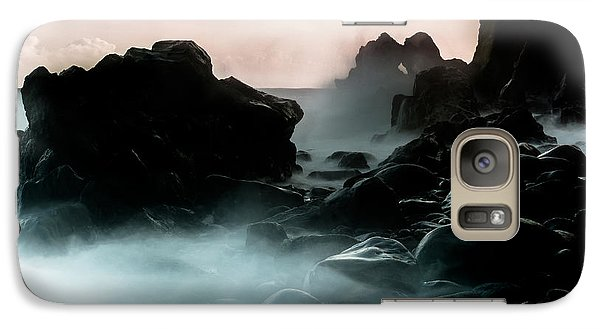 Galaxy Case featuring the photograph Black Rock by Edgar Laureano