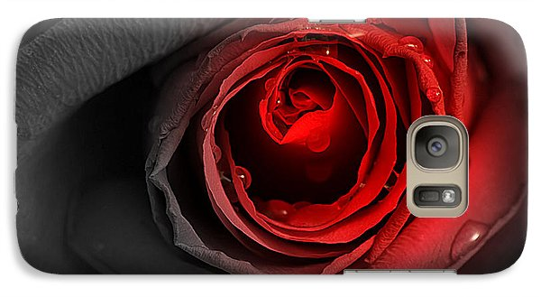 Galaxy Case featuring the photograph Black Rose by Adrian LaRoque
