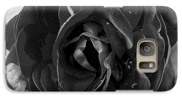 Galaxy Case featuring the photograph Black Rose by Nina Ficur Feenan