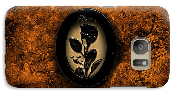 Galaxy Case featuring the painting Black Rose by Persephone Artworks