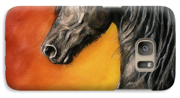 Galaxy Case featuring the painting Black Satin by Sheri Gordon