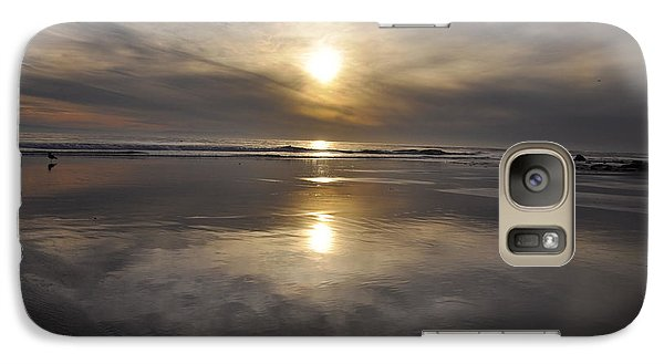 Galaxy Case featuring the photograph Black Sunset by Gandz Photography
