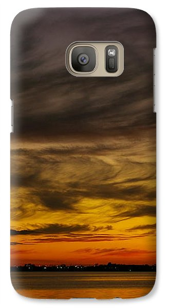 Galaxy Case featuring the photograph Black Sunset by Tannis  Baldwin