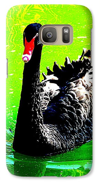 Galaxy Case featuring the photograph Black Swan by John King