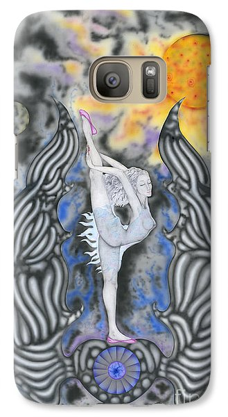 Galaxy Case featuring the painting Black Swan by Kenneth Clarke