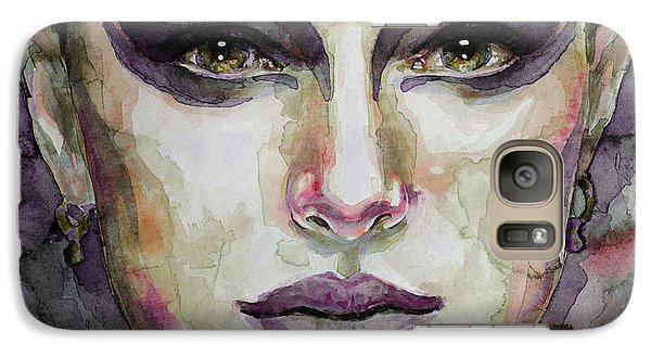 Galaxy Case featuring the painting Black Swan by Laur Iduc