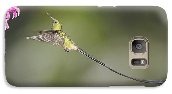 Galaxy Case featuring the photograph Black-tailed Trainbearer Hummingbird by Dan Suzio