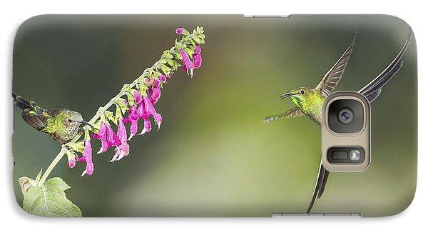 Galaxy Case featuring the photograph Black-tailed Trainbearer Hummingbirds by Dan Suzio