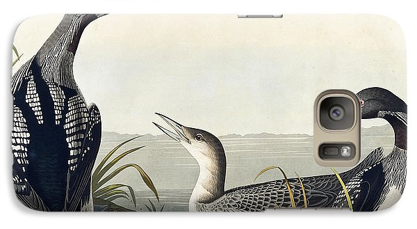 Loon Galaxy S7 Case - Black Throated Diver  by John James Audubon