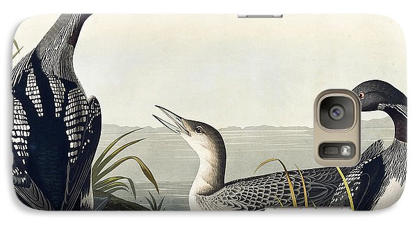 Black Throated Diver  Galaxy S7 Case by John James Audubon