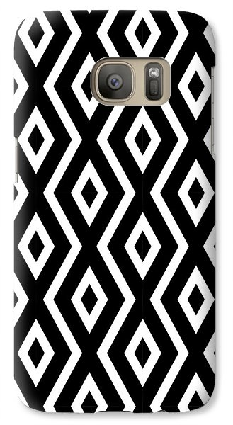 Black And White Pattern Galaxy S7 Case