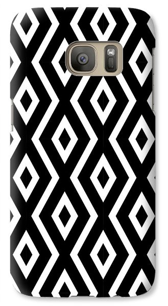 Black And White Pattern Galaxy S7 Case by Christina Rollo