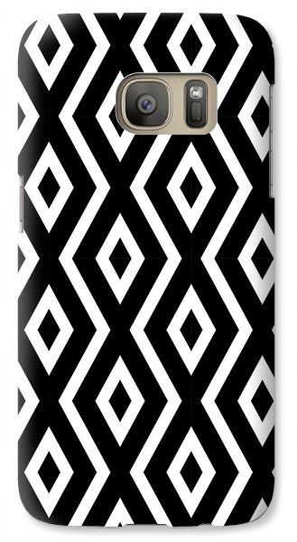 Beach Galaxy S7 Case - Black And White Pattern by Christina Rollo