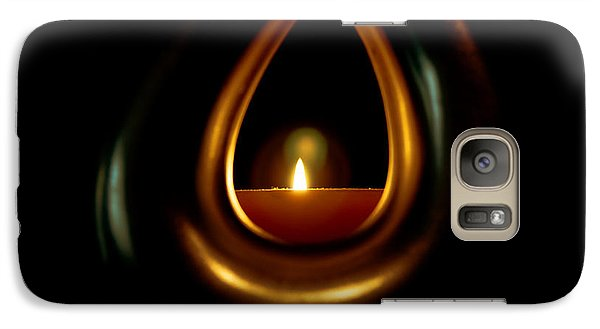 Galaxy Case featuring the photograph Black Whole Light by Joseph Hollingsworth