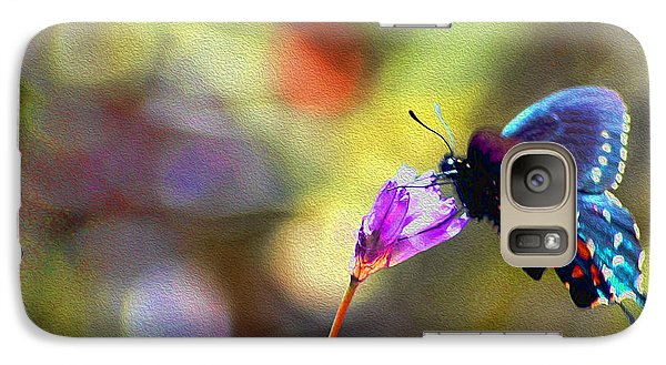 Galaxy Case featuring the photograph Black Willowtail Butterfly by William Havle
