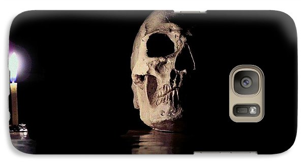 Galaxy Case featuring the photograph Blackbeard's Skull by Mark Blauhoefer