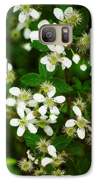Galaxy Case featuring the photograph Blackberry Blossoms by Suzanne Powers
