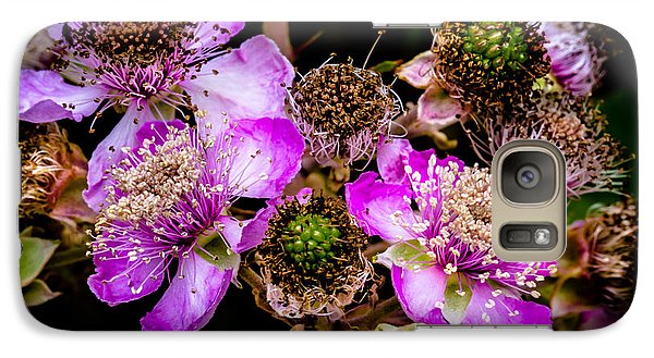 Galaxy Case featuring the photograph Blackberry Flower by Edgar Laureano