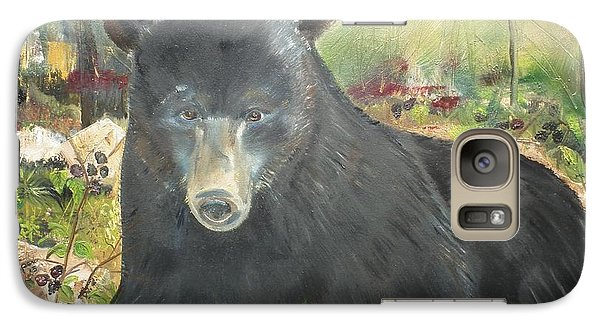 Galaxy Case featuring the painting Blackberry Scruffy 2 by Jan Dappen