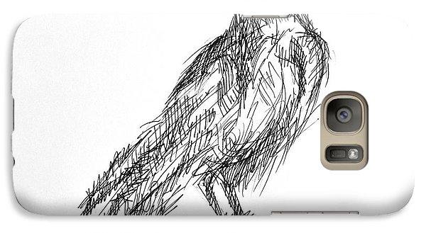 Galaxy Case featuring the drawing Blackbird  by Nicole Gaitan