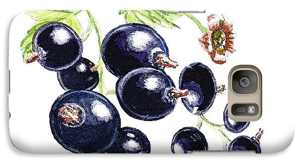 Galaxy Case featuring the painting Blackcurrant Berries  by Irina Sztukowski