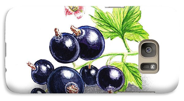 Galaxy Case featuring the painting Blackcurrant Still Life by Irina Sztukowski