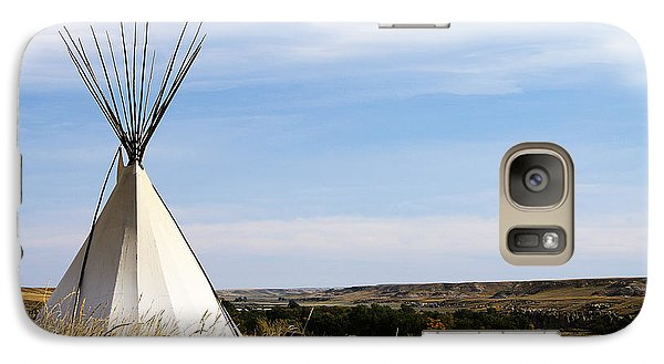 Galaxy Case featuring the photograph Blackfoot Teepee by Alyce Taylor