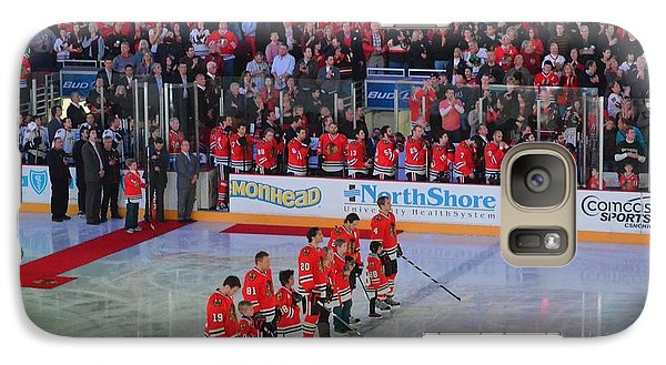 Galaxy Case featuring the photograph Blackhawks Fight Cancer by Melissa Goodrich