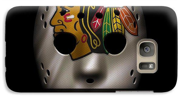 Blackhawks Jersey Mask Galaxy S7 Case by Joe Hamilton