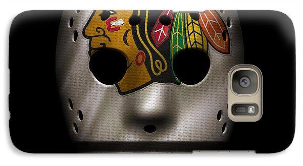 Blackhawks Jersey Mask Galaxy Case by Joe Hamilton