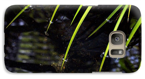 Galaxy Case featuring the photograph Blades In The Pond by Irma BACKELANT GALLERIES